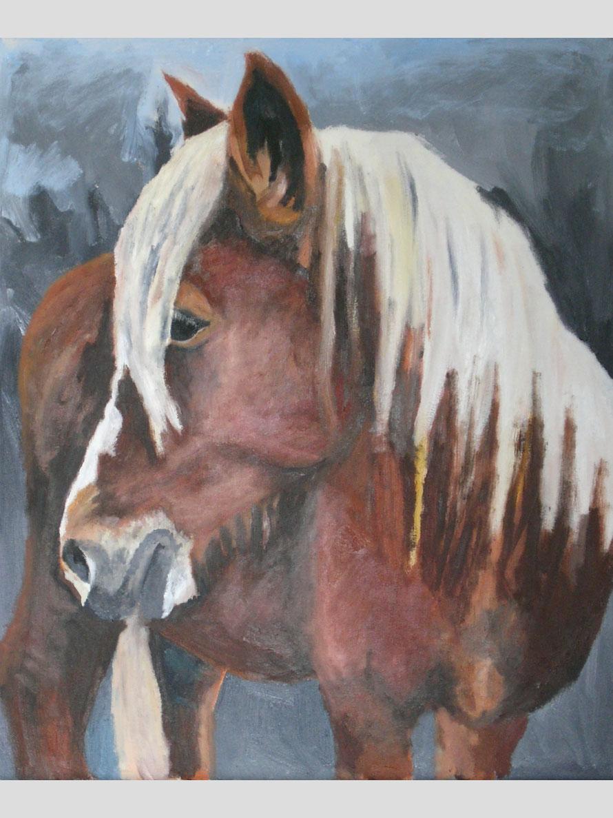 Lady, Öl auf Leinwand, 50 X 60 cm