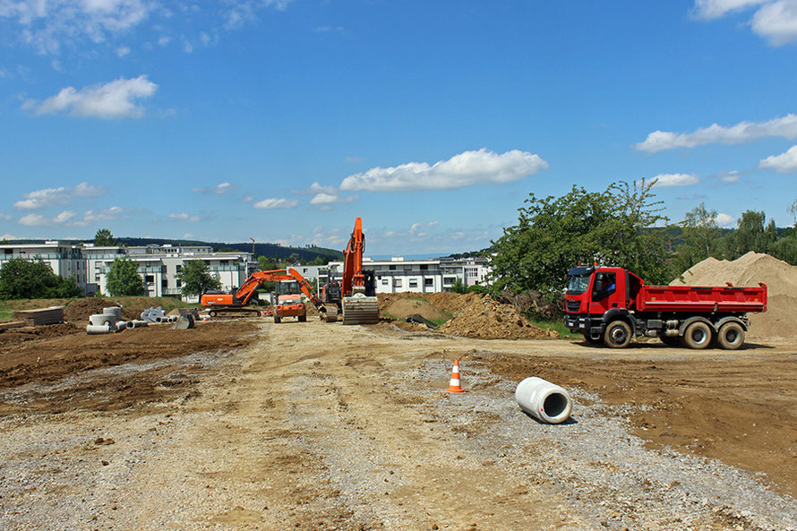 Baustelle Mehrgenerationenhaus Baugebiet Rück II Waldbronn