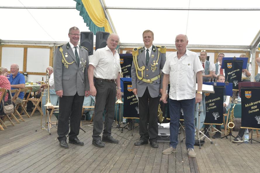 v. l.: Gerd Kos, Heinrich Ganseforth, Holger Hertel, Bernhard Tieben