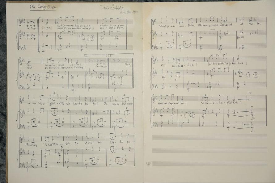 1940 - erstes Liebeslied für Angelina