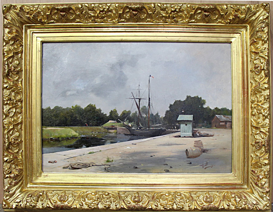 Decamps Albert, Le port d'Abbeville, vers 1890, Musée Boucher-de-Perthes, Abbeville