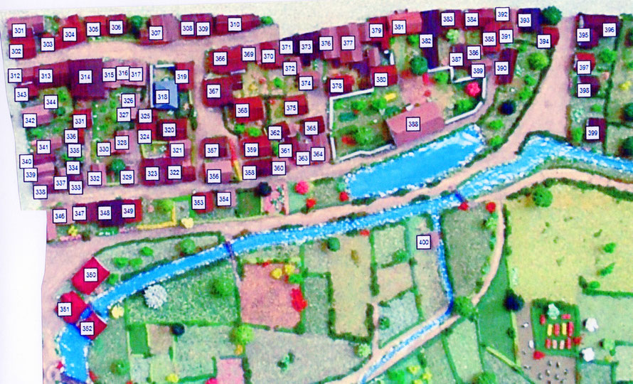 Abbildung 4: Mendener Altstadt  Süd  Modellnummern 301 - 400