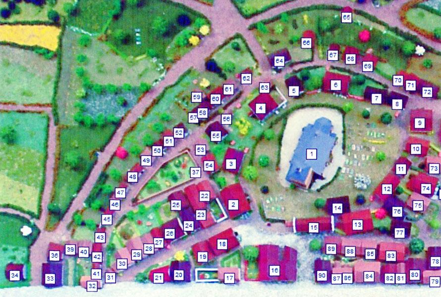 Abbildung 1: Mendener Altstadt Nord    Modellnummern 1 - 100