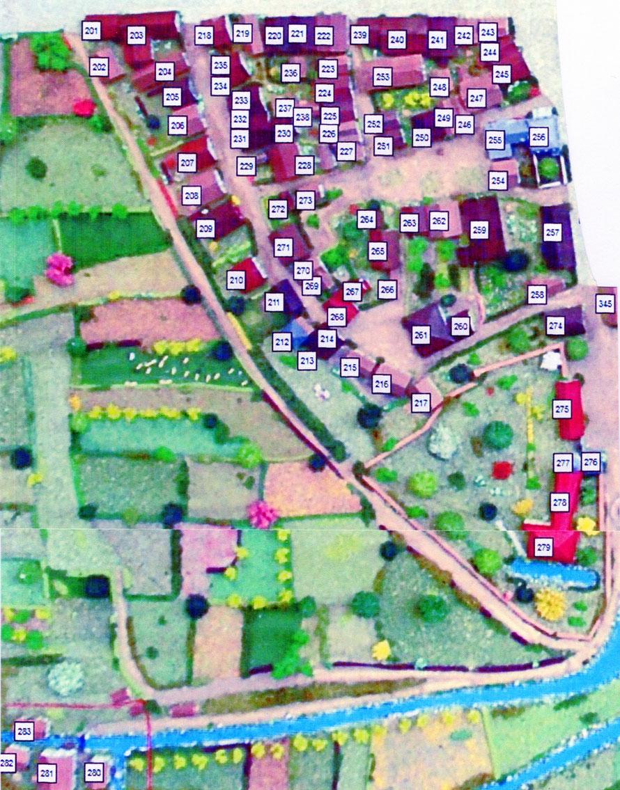 Abbildung 3:   Mendener Altstadt    West        Modellnummern   201 - 300