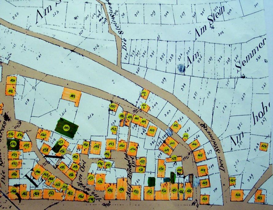 Abbildung 2:  Mendener Altstadt  Ost    Modellnummern  101 - 200