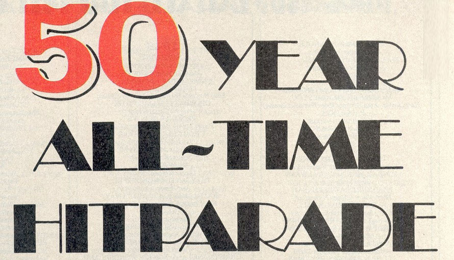 50 year all time hitparade