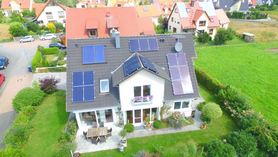 Photovoltaik-Installation in der Schweiz