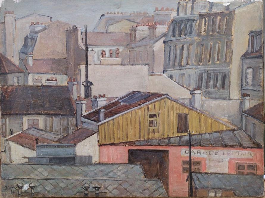 MONTPARNASE, 1953, Oleo sobre lienzo. En proceso de restauración.