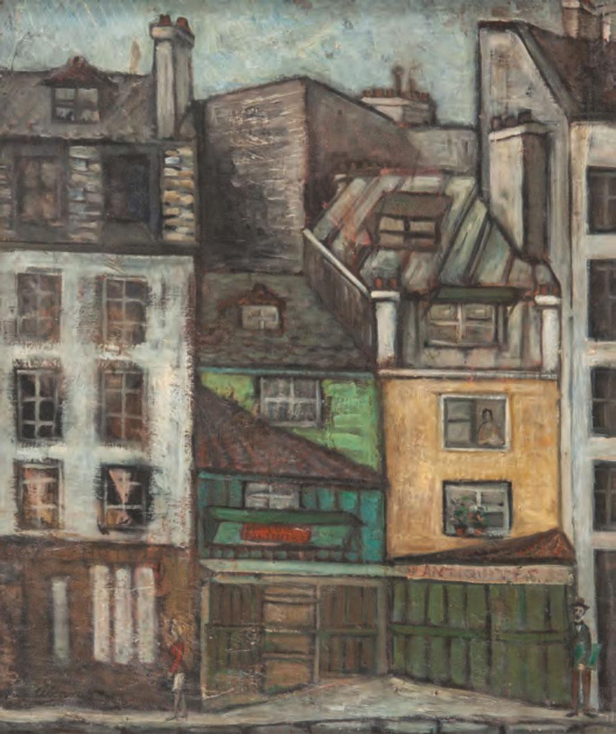 SAINT JULIEN LE PAUVRE, 1953 Óleo sobre lienzo. 77 x 65 cm