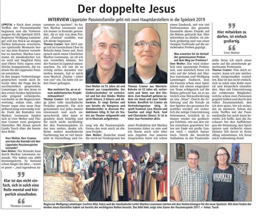 Bericht Soester Anzeiger vom 11.11.2017