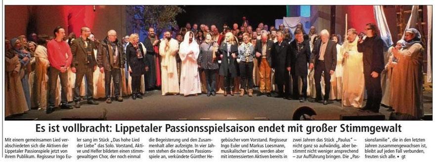 Bericht Soester Anzeiger vom 31.03.2015