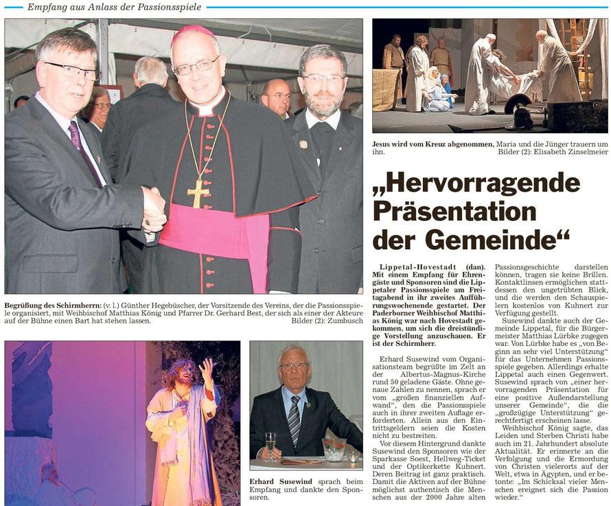 Bericht Die Glocke vom 21.03.2015