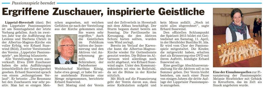 Bericht Die Glocke vom 31.03.2015