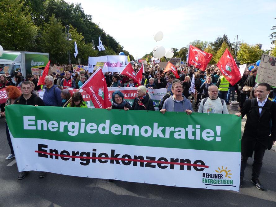 Aktive des Berliner Energietisches auf der Demo zum Klimastreik am 20.09.2019 in Berlin
