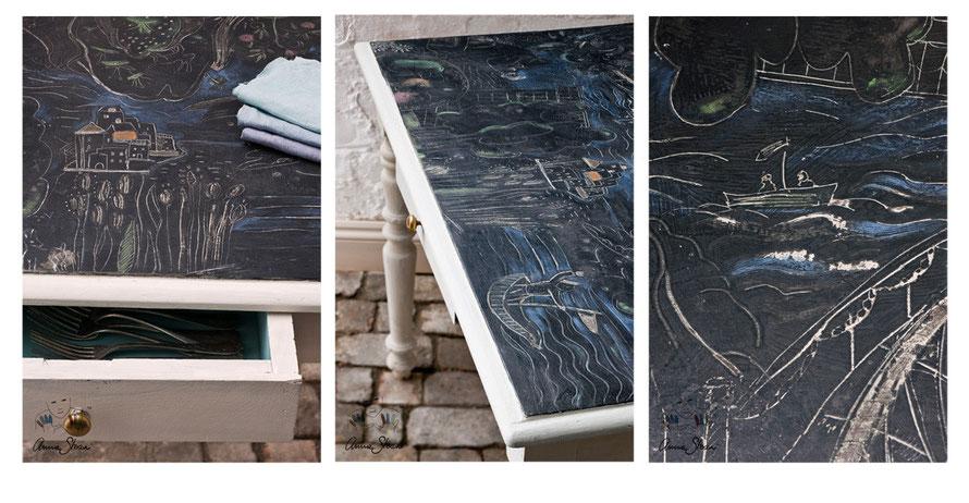 Möbel selbst streichen mit Kreidefarbe chalkpaint von Annie Sloan