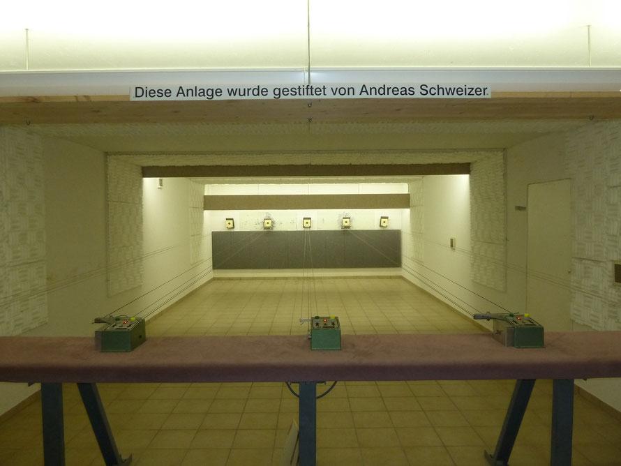 10 m Schießstand für Luftdruckschusswaffen, Plätze 1-5
