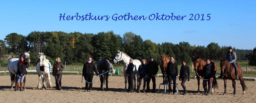 Gruppenfoto vom Herbstkurs auf der Insel Usedom