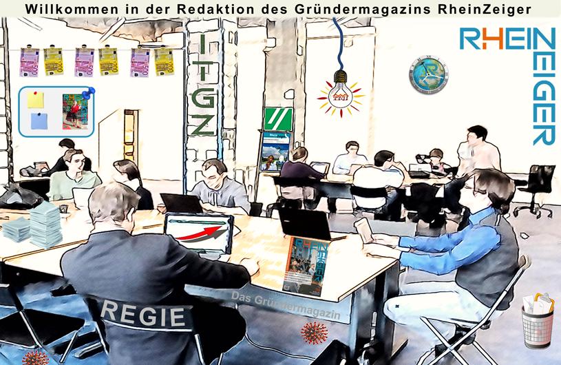 Der Coworking Space der Redaktion