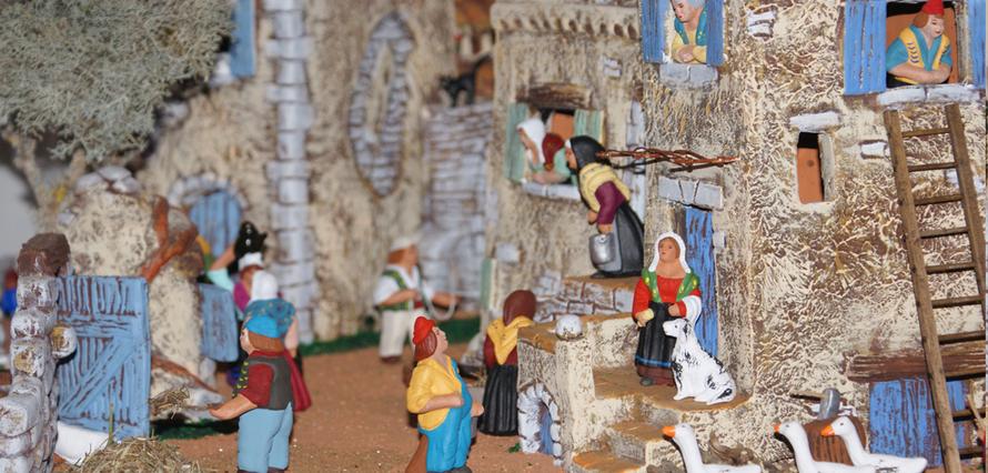 Village de Provence en argile - Paul Garrel, artisan santonnier