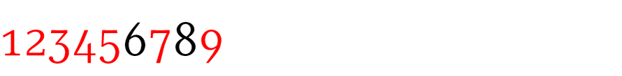 The old style numerals of Serif, Sans and Slab help animate typography.
