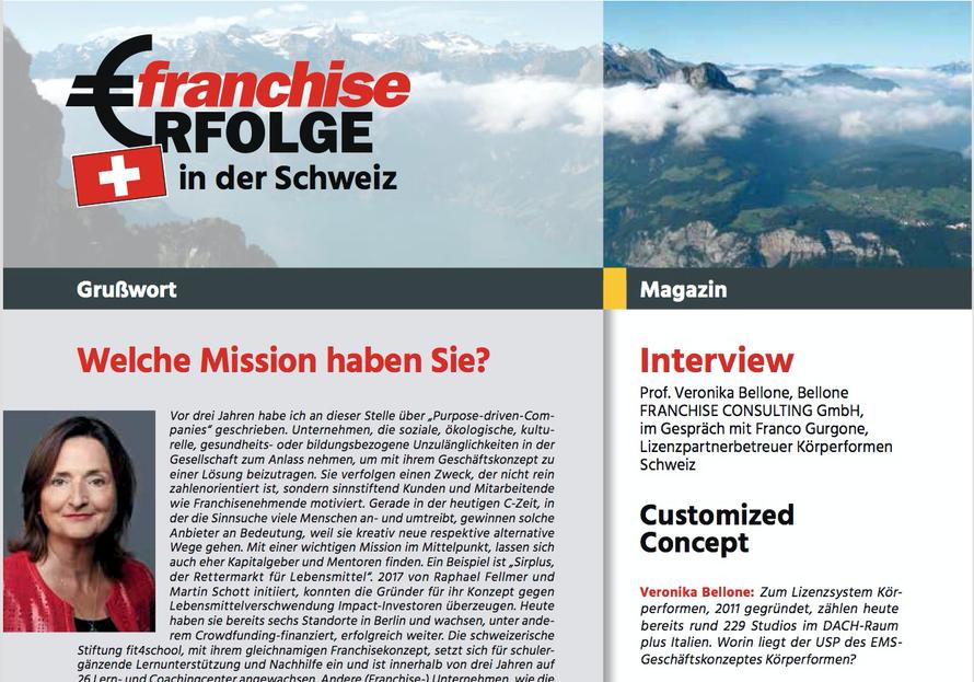 Prof. Veronika Bellone hat für die Zeitschrift FranchiseErfolge ein Interview mit Franco Gurgone geführt © Bellone Franchise Consulting GmbH