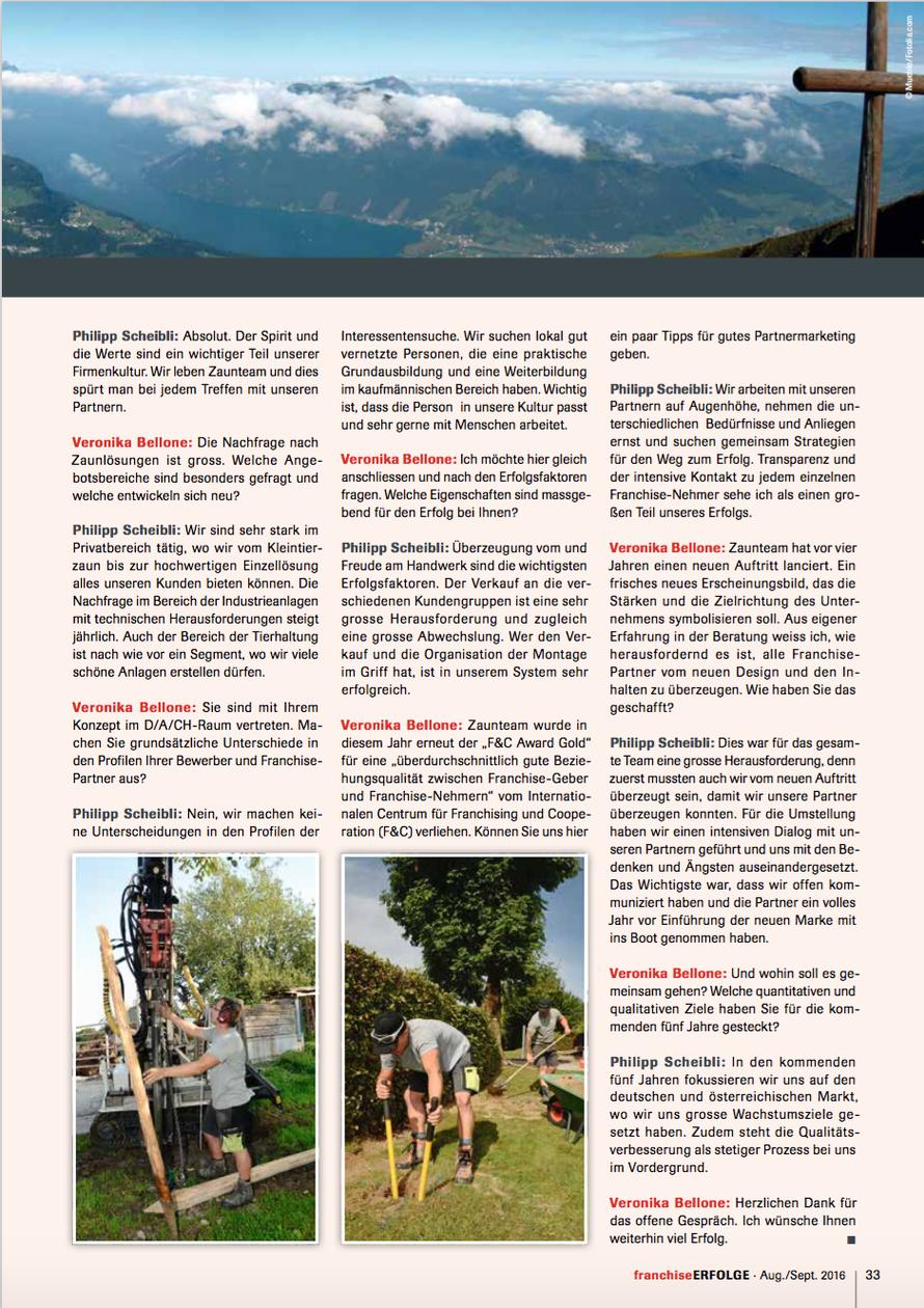 Franchise Erfolge Nr. 4/2016 (August/September)/ Seite 33