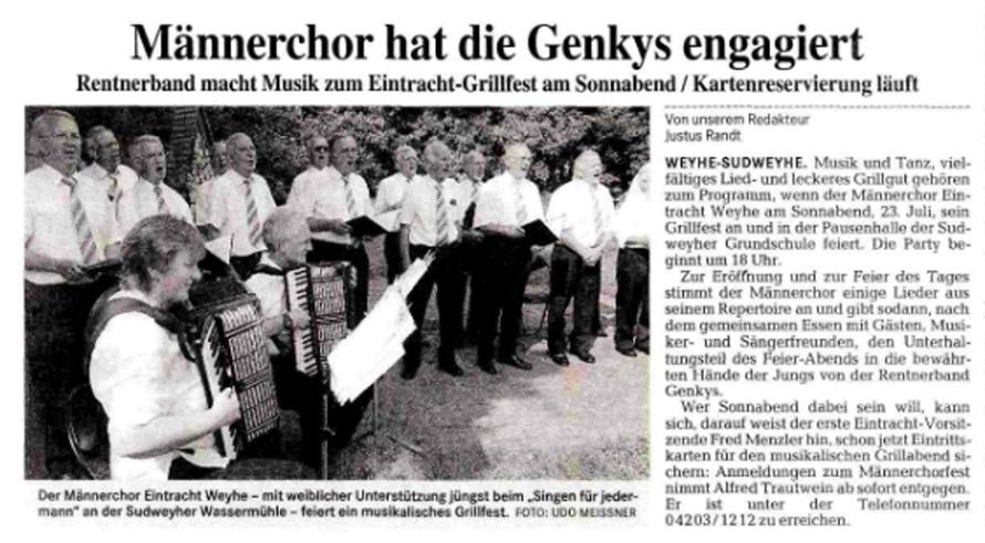 Weser-Kurier vom 19. 7. 2005