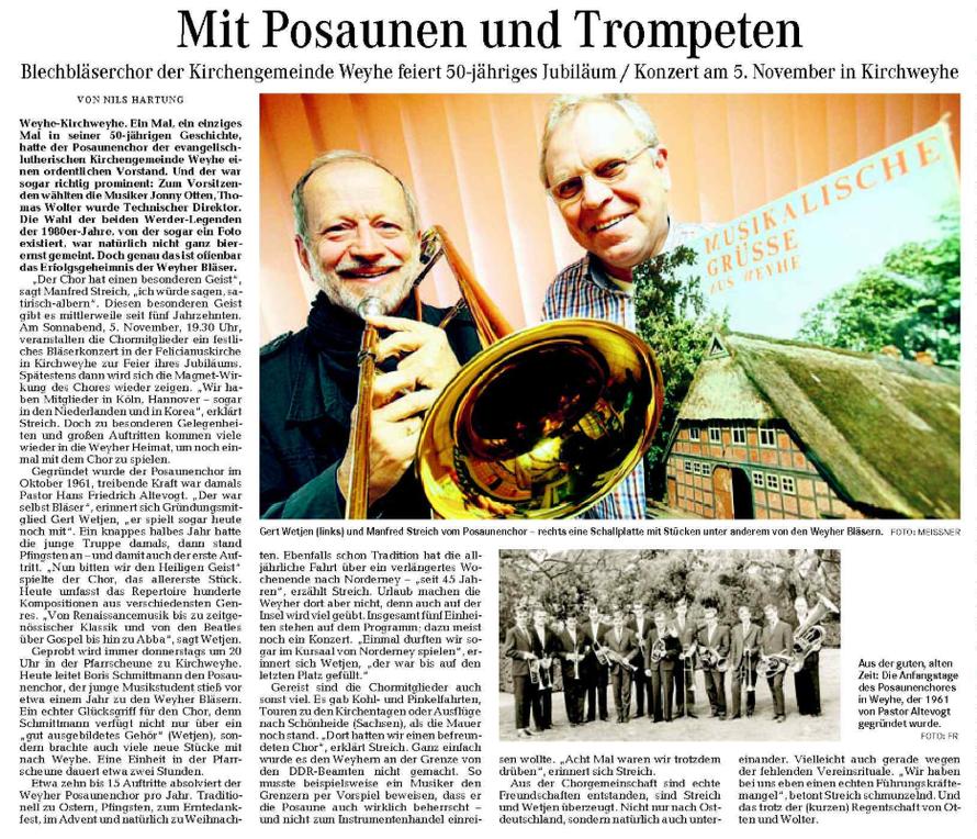 Weser-Kurier vom 07. 11. 2011