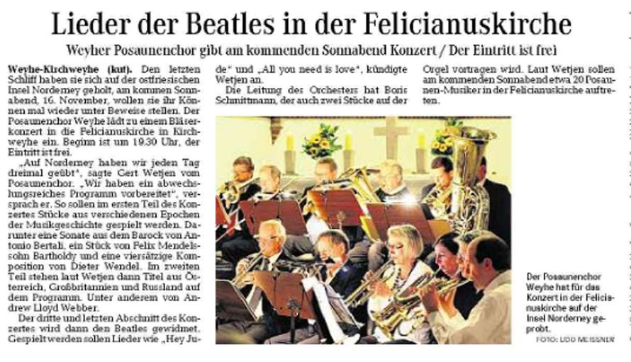 Weser-Kurier vom 14. 11. 2015