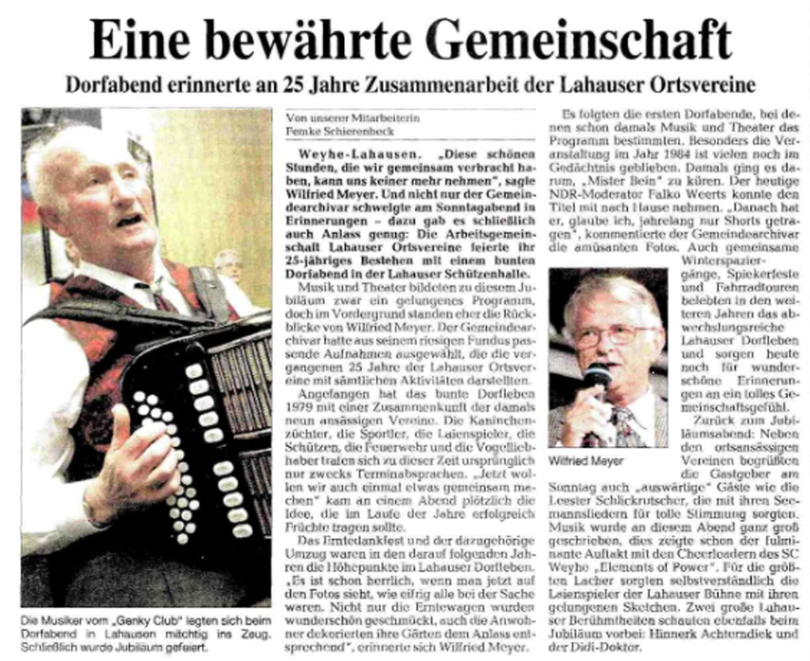 Weser-Kurier vom 12. 10. 2004