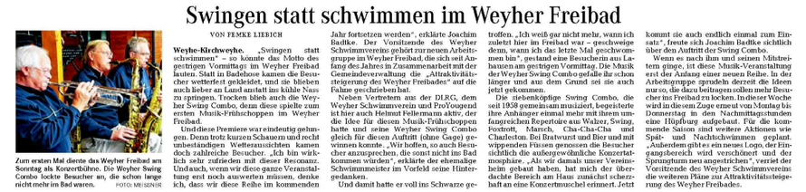 Weser-Kurier vom 27. 8 2012