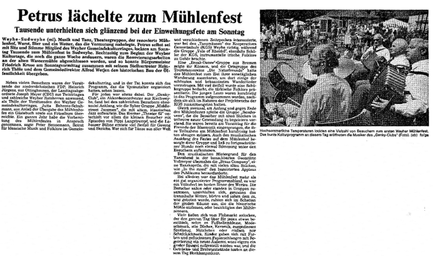 Weser-Kurier v. 10. 7. 1984