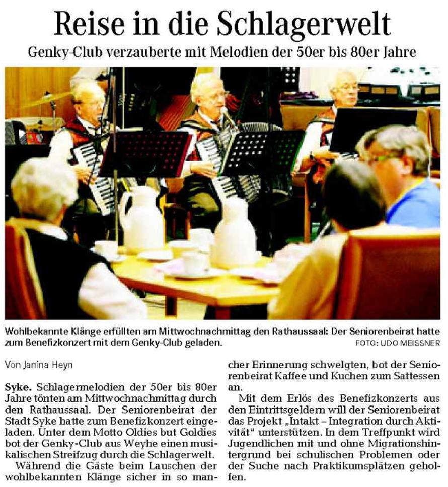 Weser-Kurier vom 09. 10. 2009