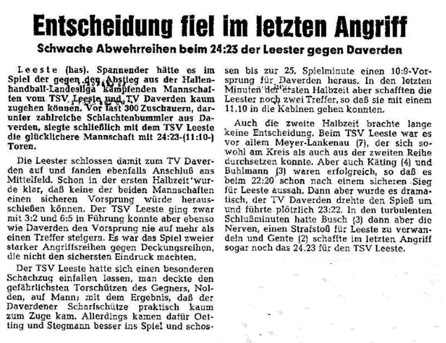 Weser-Kurier vom 16. 2. 1978