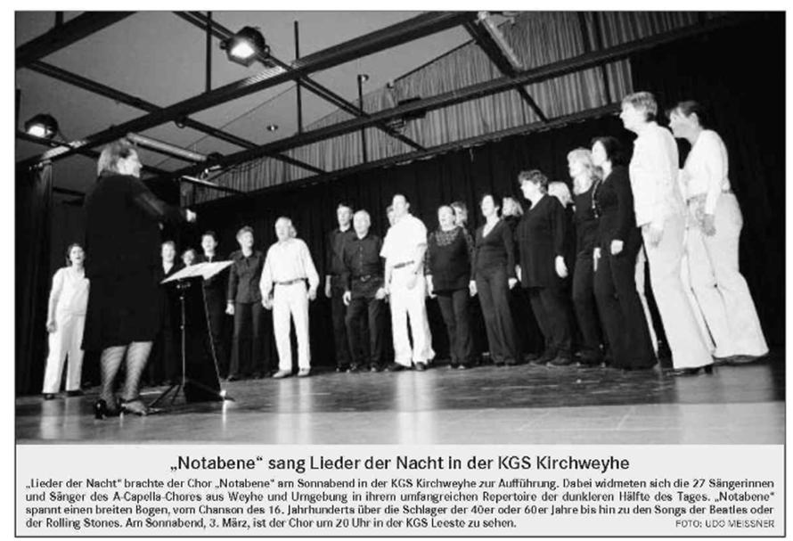 Weser-Kurier vom 12. 02. 2007