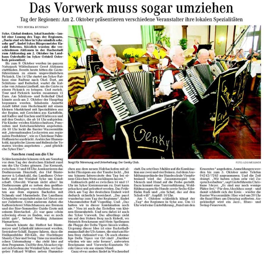 Weser-Kurier vom 24. 02. 2011