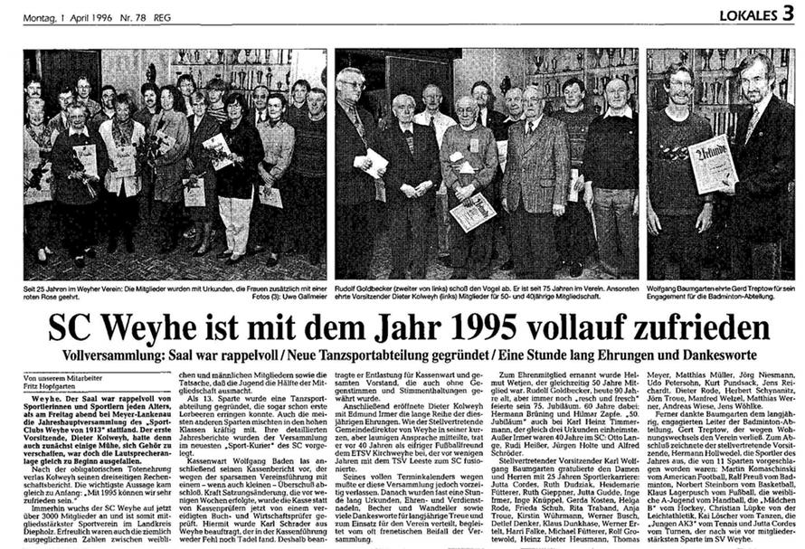 Kreiszeitung v. 1.4.1996