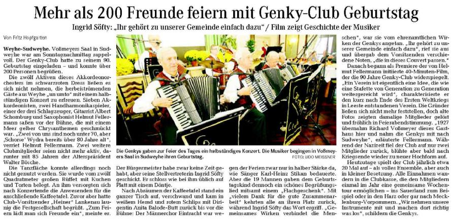 Weser-Kurier vom 20. 10. 2009