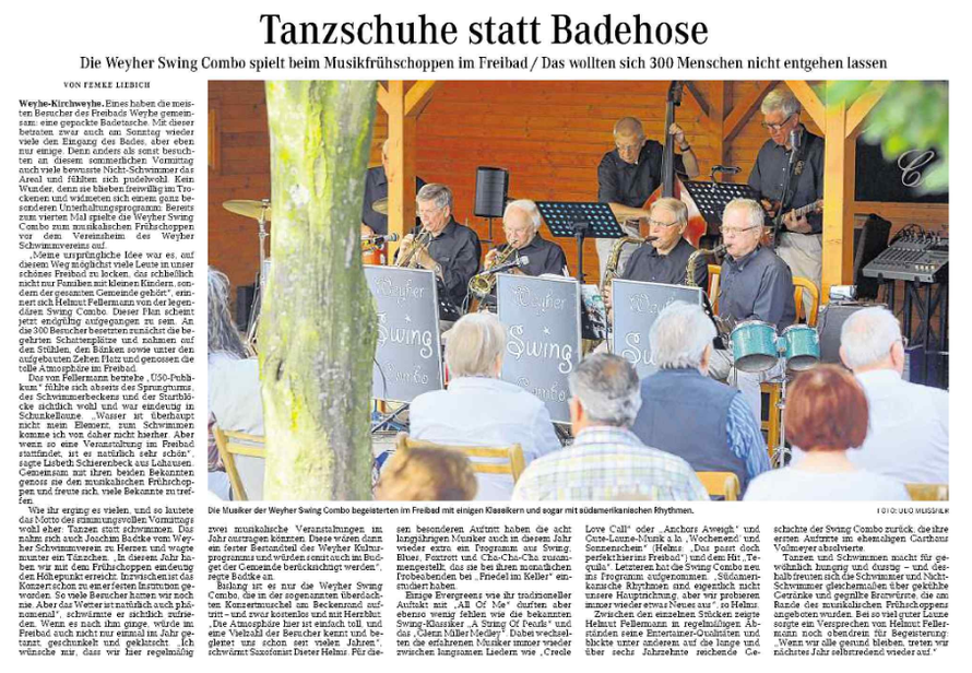 Weser-Kurier vom 3. 8. 2015