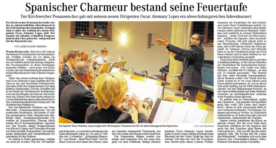 Weser-Kurier vom 17. 11. 2014