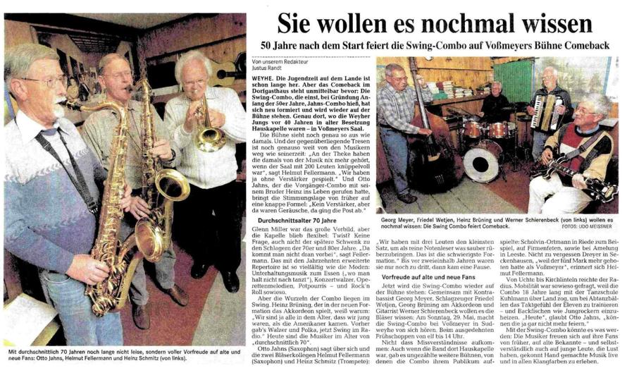 Weser-Kurier vom 10. 5. 2005