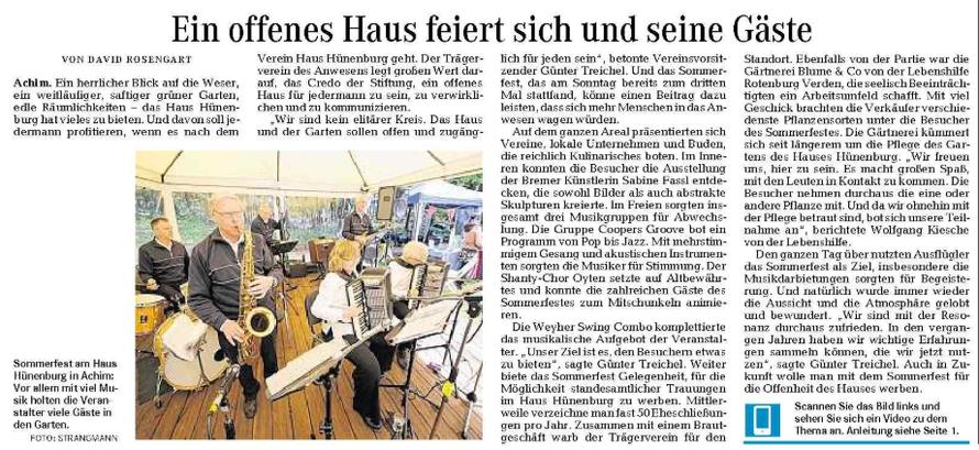Weser-Kurier vom 23. 6. 2014
