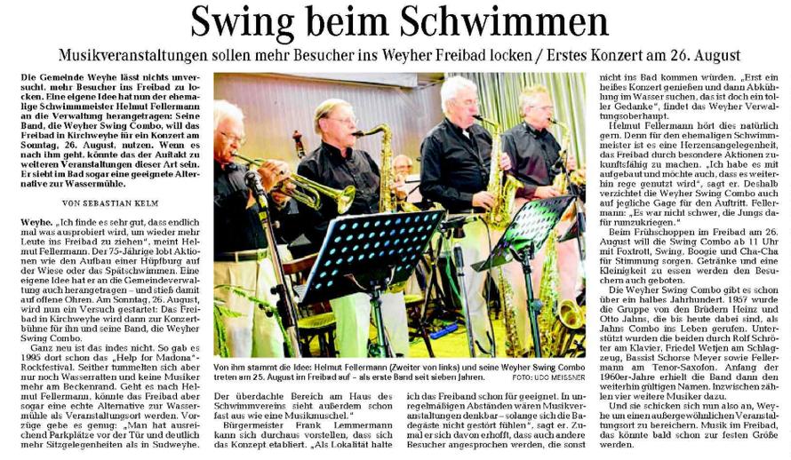 Weser-Kurier vom 17. 8 2012