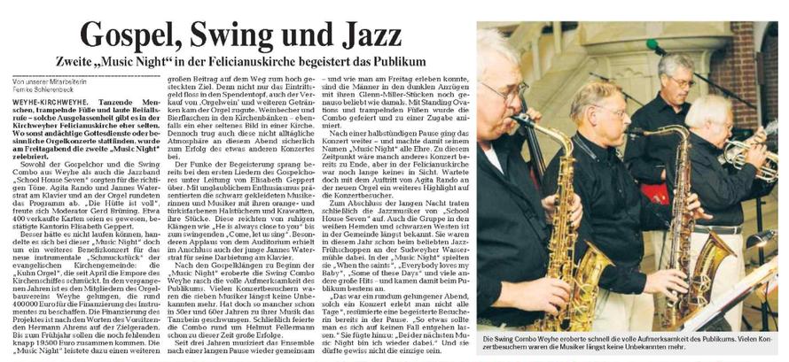 Weser-Kurier vom 15. 10. 2006