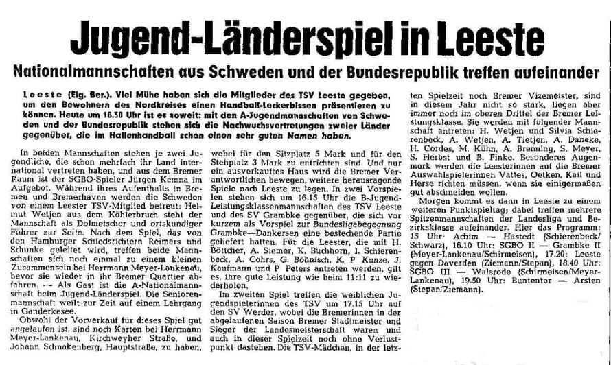 Weser-Kurier vom 29. März 1973