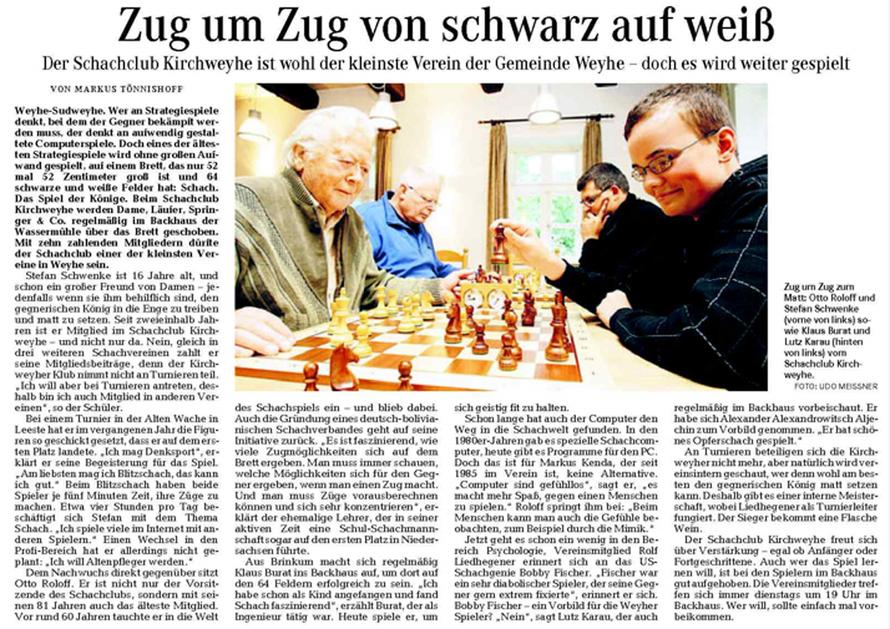 Weser-Kurier v. 12. 8. 2011
