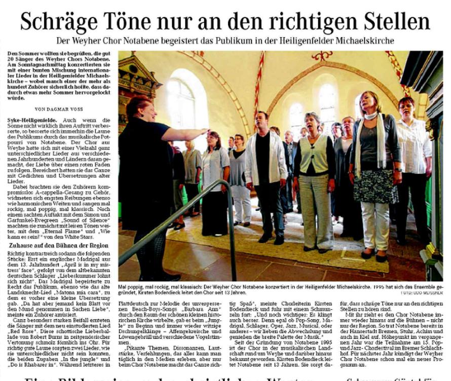 Weser-Kurier vom 17. 07. 2012