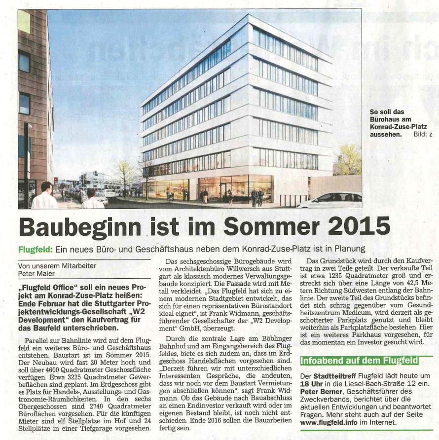 Sindelfinger-Böblinger Zeitung / 31.03.2015
