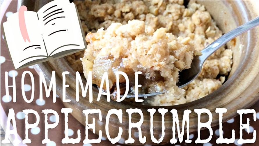 homemade apple crumble, recept voor appel crumble, apple crumble zelf maken, recept applecrumble