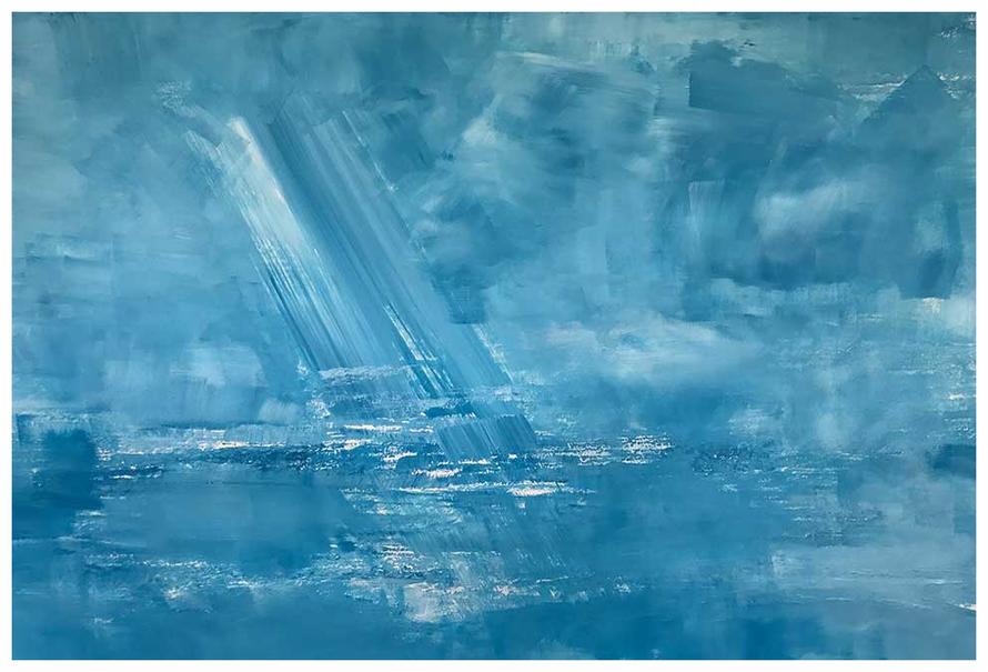 Wind über dem Meer, Mai 2017, 60 x 87 cm, Rembrandt Acryl, Copyright by Martin Uebele